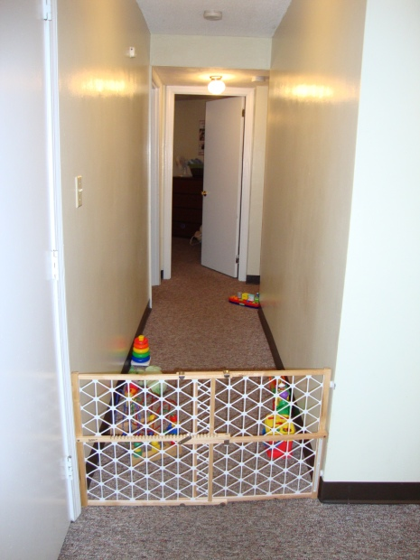 hallway/large play pen for Baby Lump