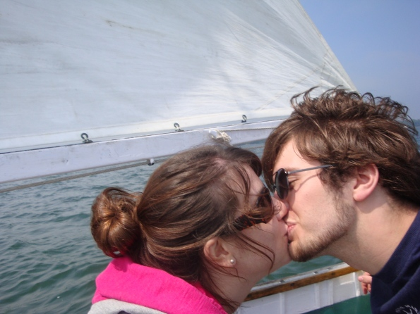 Me (@12 weeks) and James, sailing