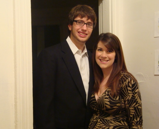 James and me before our dinner-and-a-movie date.