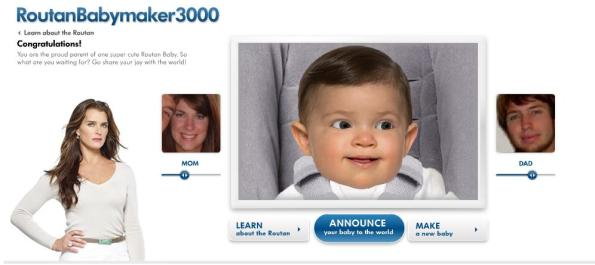 Click the picture to check out a more animated version of Baby Lump-Routan.