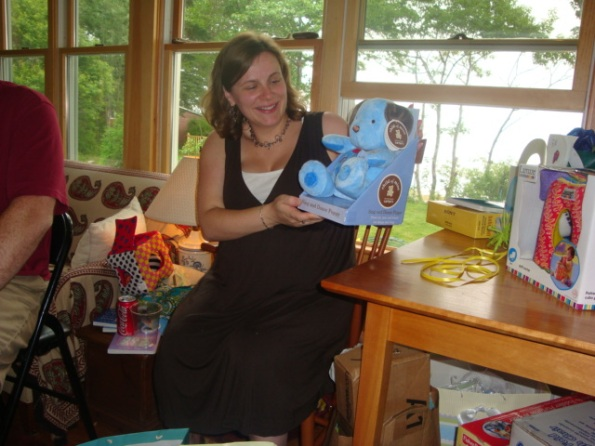 Sara with one of her gifts